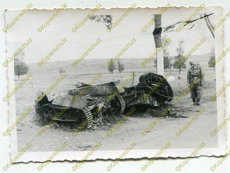 Foto, Wehrmacht, zerschossene Panzer, Schlepper bei Nancy, Frankreich (N)19392   eBay