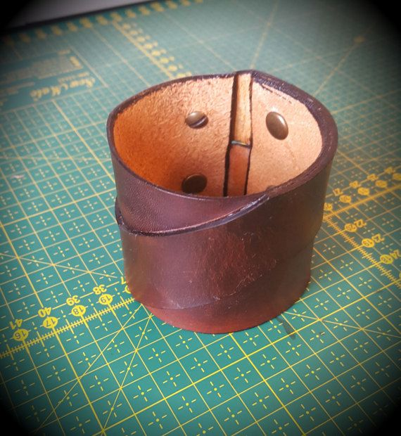 Brown Z-Type leather bracelet by CrusaderArmoury on Etsy