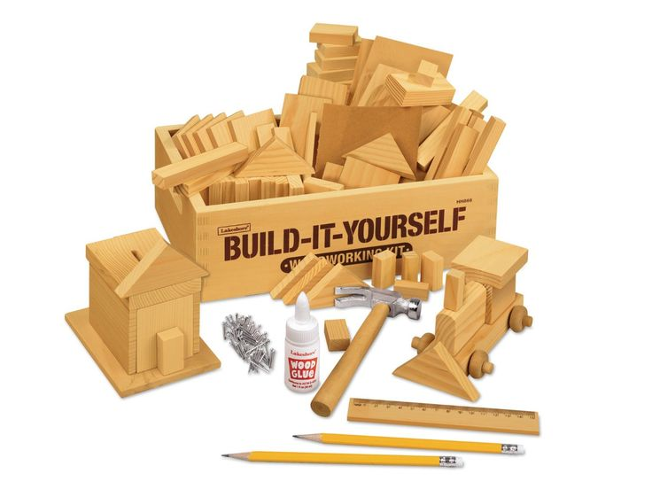 Amazon.com: Build-It-Yourself Woodworking Kit: Toys & Games http://www.amazon.com/Lakeshore-Learning-Materials-Build-It-Yourself-Woodworking/dp/B009IYD7PO/ref=sr_1_1?ie=UTF8&qid=1415133323&sr=8-1&keywords=build+it+yourself+woodworking+kit