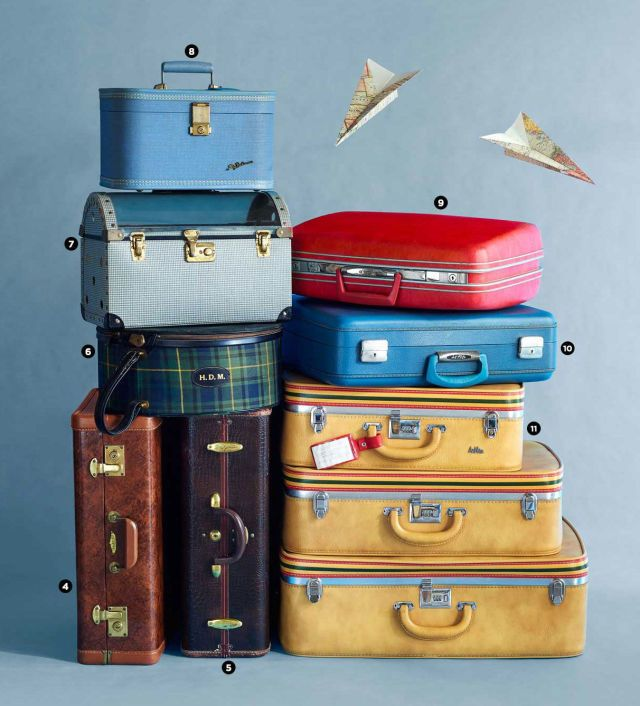 From luxury steamer trunks to monogrammed hatboxes, these vintage pieces hark back to the glory days of American travel.