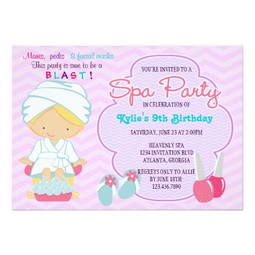 17 Best images about Pink Birthday Party Invitations – Invitation Card for a Birthday Party