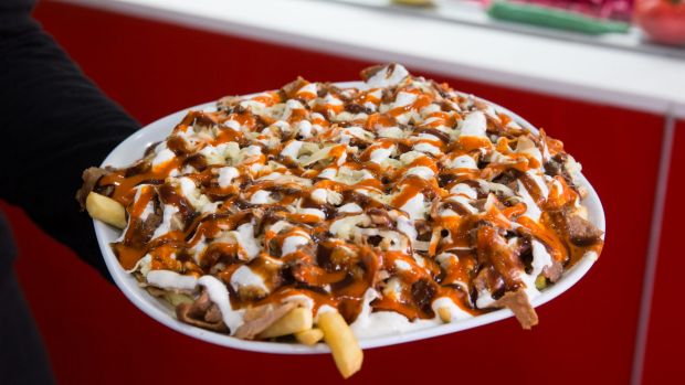 Good Food/News. Halal from Senator Sam Dastyari on How to make a halal snack pack. VIDEO: of sam making a halal snack pack. Photograph by Edwina Pickles. Taken on 12th July 2016.
