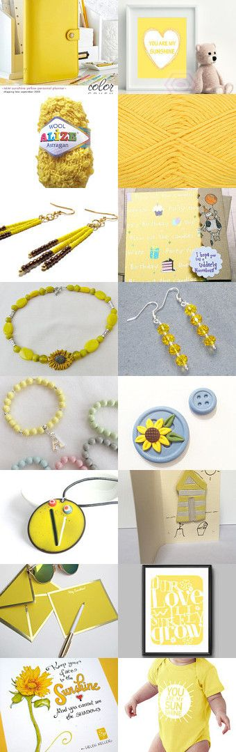Sunshine Yellow by Sally and Becky on Etsy--Pinned+with+TreasuryPin.com