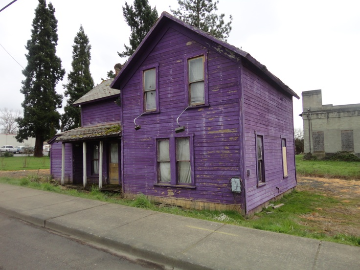 How often do you see a purple house? This one needs some TLC