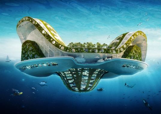 This amazing floating city was designed to look like a water lilly!