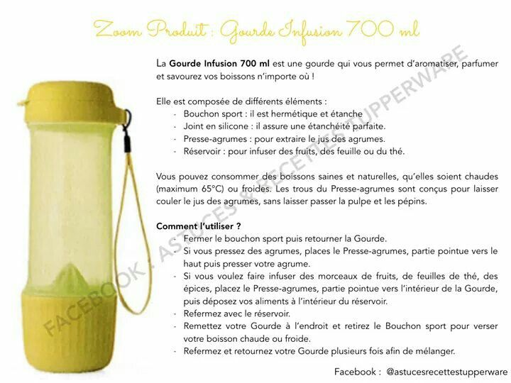 Gourde Infusion 700 ml Tupperware