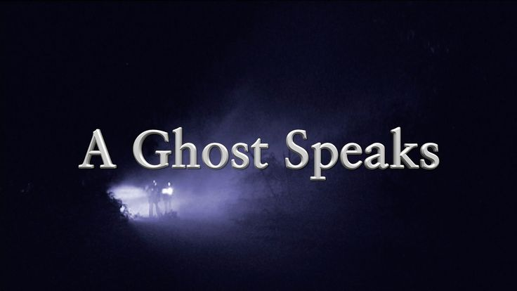 Ever heard a ghost speak? Here's your chance and can you figure out what it's saying?