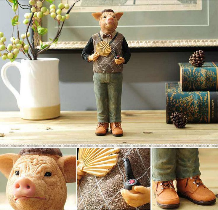 Creative Lovely Deer Gentleman Animal Figurines for Gift Craft, View animal figurines, ANLUNOB Product Details from Wuhan Anlunob Home Decor Co., Ltd. on Alibaba.com