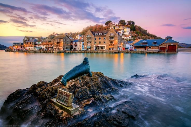 Sunset at Nelson the Seal at Looe, Cornwall, England by Joe Daniel Price on 500px. Sculptor http://www.suziemarshsculpture.co.uk/