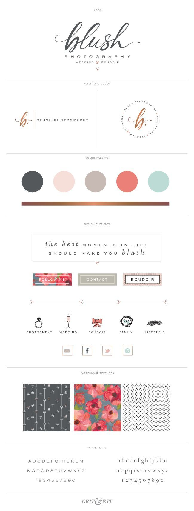 [colour] Brand Reveal // Blush Photography // designed by Grit & Wit