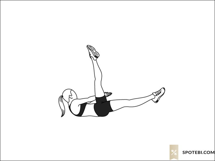 Side crunch leg raise exercise guide with instructions, demonstration, calories burned and muscles worked. Learn proper form, discover all health benefits and choose a workout. http://www.spotebi.com/exercise-guide/side-crunch-leg-raise/
