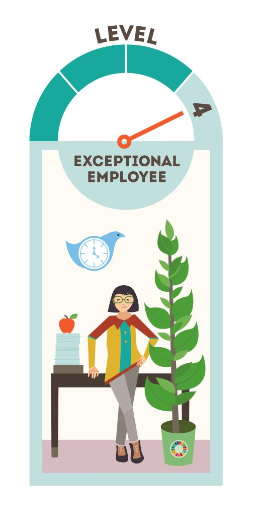 """Introducing Level 4 of our Lazy Person's Guide to Saving the World, the Exceptional Employee! There's a lot you can do in your workplace to improve the world, from mentoring someone to speaking out against sexual harassment."" ....and so much more. Learn more about the ways you can better the world: http://www.un.org/sustainabledevelopment/takeaction/"