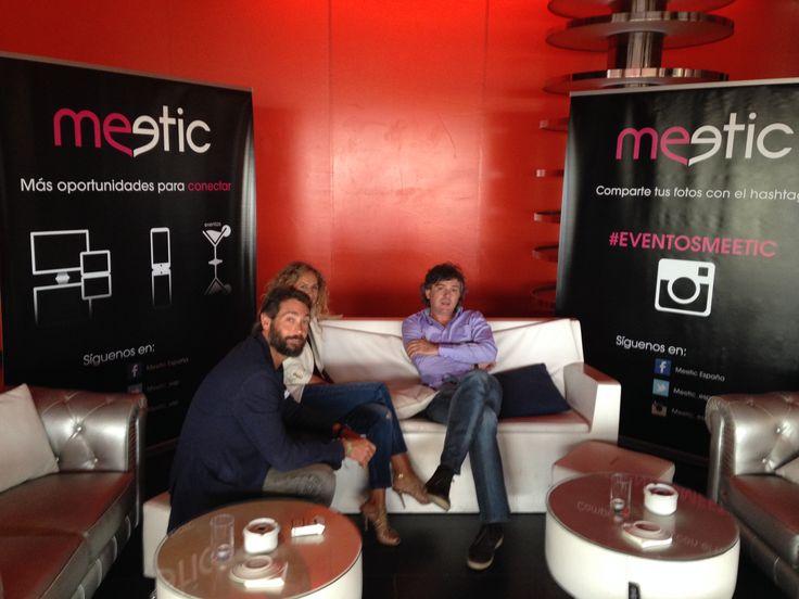 Momentos antes de la presentación de Los Eventos, José Ruano, director general de Meetic, charla con Sebastián Palomo Danko #eventosmeetic