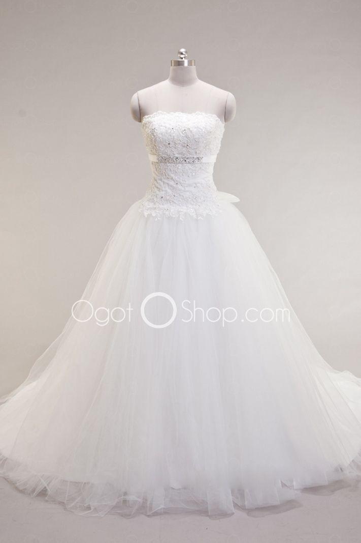Sleeveless Strapless Princess Wedding Dresses http://prettyweddingidea.com/