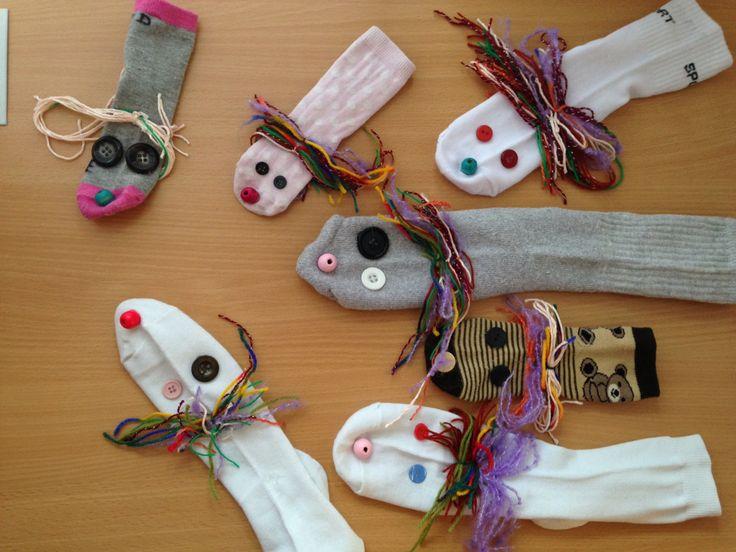 Maňásci z ponožek