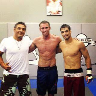 Jake Shields preparing for Demian Maia training with Kron Gracie Jiu Jitsu and the legendary RICKSON GRACIE