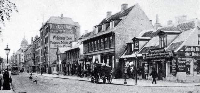 Amagerbrogade ved hjørnet af Tingvej i 1907. Foto fra Sulfa.