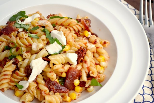 sun-dried tomato, corn and bacon pasta | eat. sleep. repeat. | Pinter ...