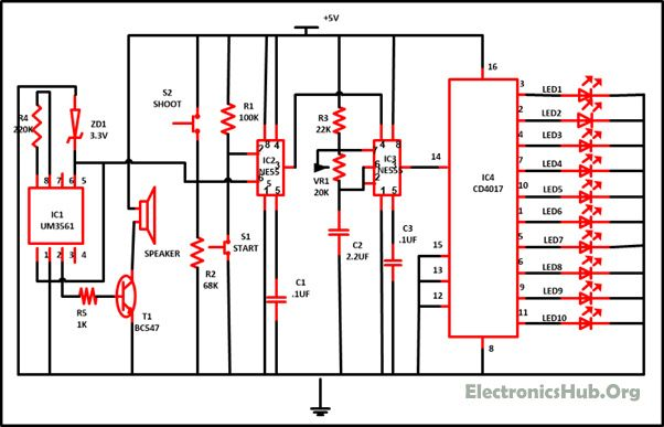 7805 Voltage Regulator Circuit Diagram Electronicshuborg