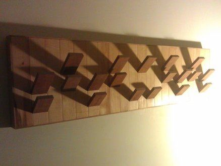maple and walnut wall mounted coat rack