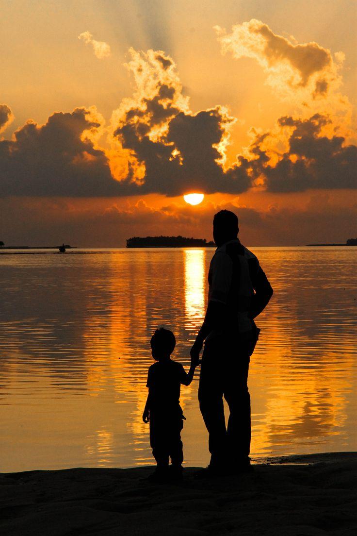 Watching the Maldives Sunset