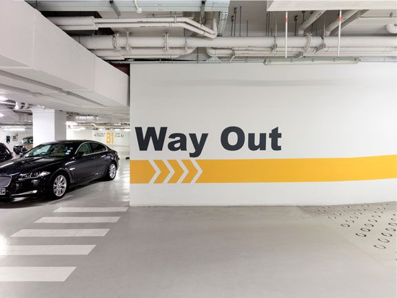 ocean financial centre car park campve design wayfinding