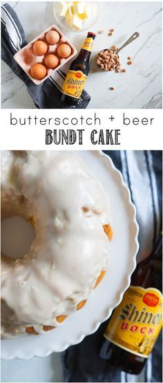 Butterscotch + Beer Bundt Cake | a great Father's Day dessert from bakeat350.net