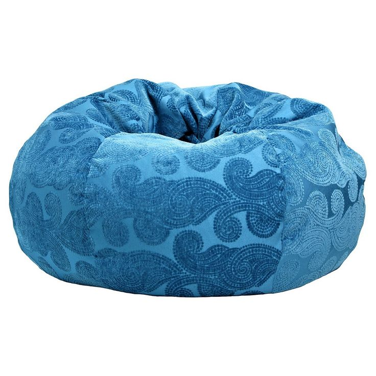 Gold Medal Morocco Peacock Extra Large  Bean Bag  - Teal