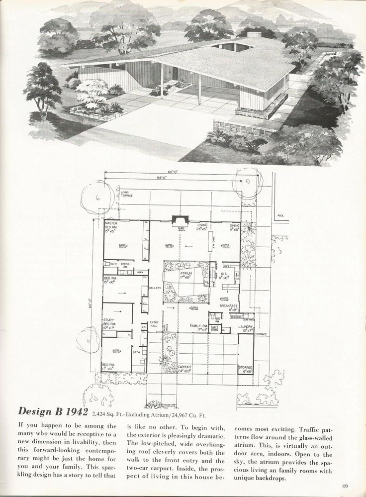 80 best house plans images on pinterest mid century for Century homes floor plans