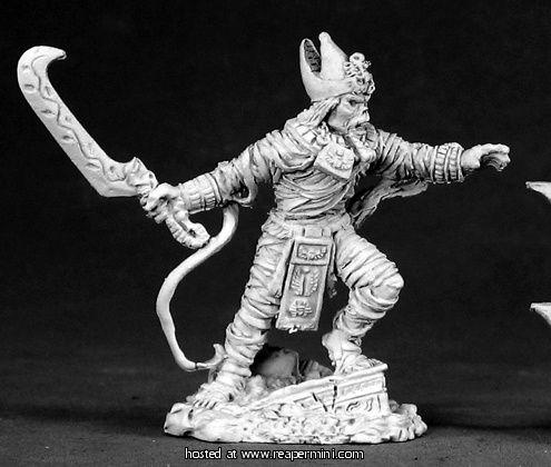 Dark Heaven Legends > Khalith, Mummy King    Reaper Miniatures :: Miniatures