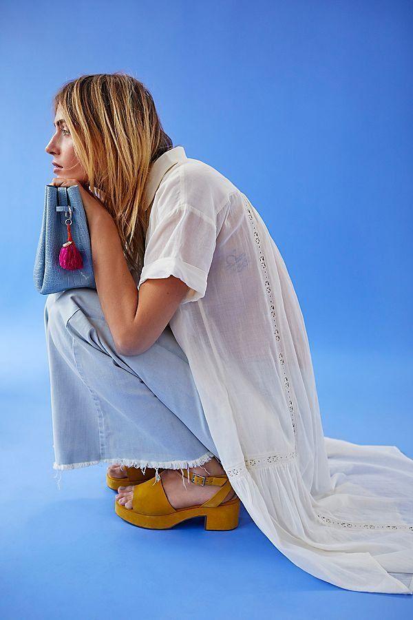 daf1cf36527 Drapey A-Line Pull-On Jeans - Light Wash A-Line Jeans with Fringe Hem -  Light Wash Flare Jeans - Light Wash Jeans - Free People Jeans - Boho Flare  Jeans
