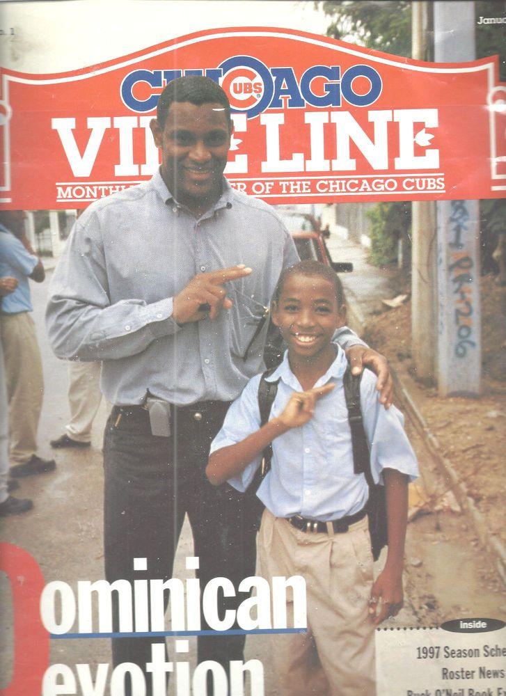 Sammy Sosa Chicago Cubs Baseball Vine Line Magazine January 1997 Vol 12 No 1 #doesnotapply #ChicagoCubs