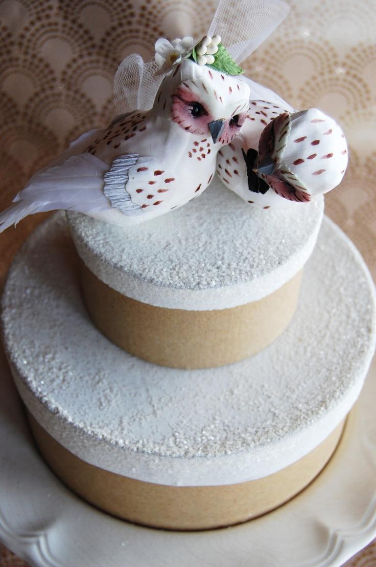 Snow Owl Wedding Cake Topper So Cute