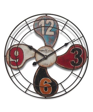 Another great find on #zulily! Vintage Fan Wall Clock #zulilyfinds
