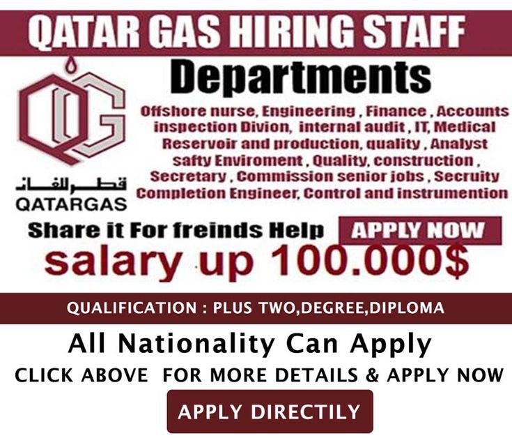 Qatar Gas Jobs Accommodation Free Visa Ticket Benefits Click Here To Apply Senior Jobs Job How To Apply