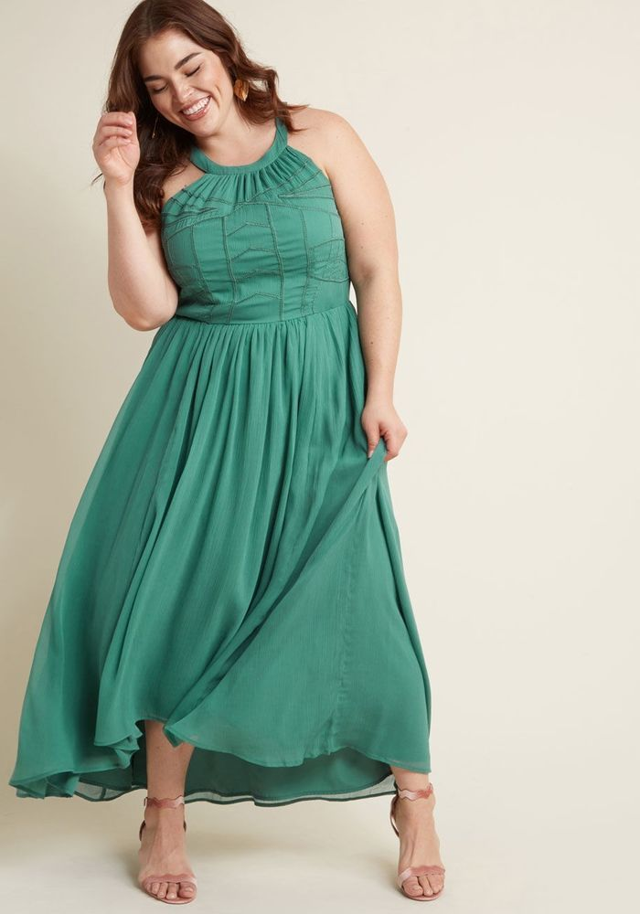 65e775558855 Modcloth 4X high-low maxi dress in fern #fashion #clothing #shoes  #accessories #womensclothing #dresses (ebay link)