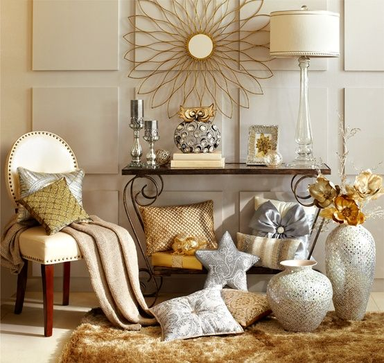 silver and gold decor mix metallic home decor december 39 s color of