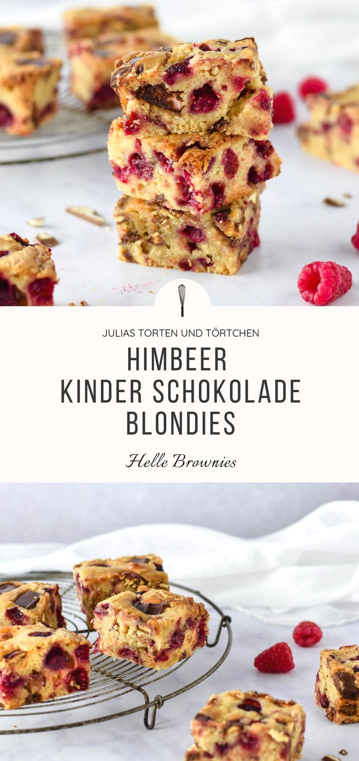Himbeer Kinderschokolade Blondies