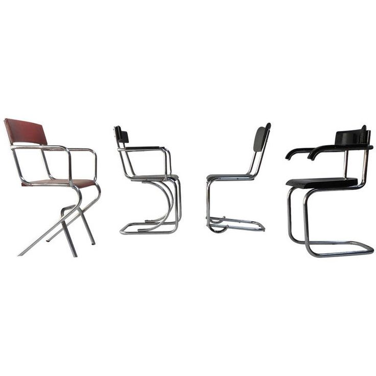 Unique Collection of 1930s Tubular Chairs by Mart Stam & J.J.P. Oud | From a unique collection of antique and modern armchairs at https://www.1stdibs.com/furniture/seating/armchairs/