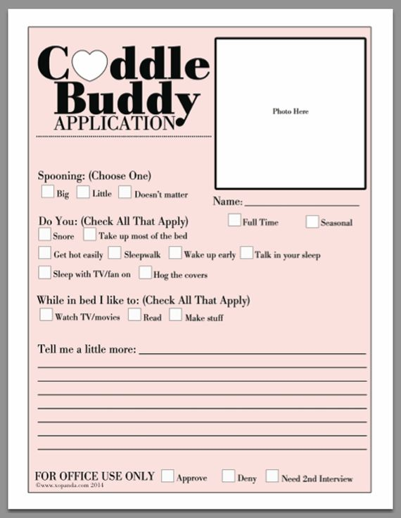 Blank Cuddle Buddy Application 2014