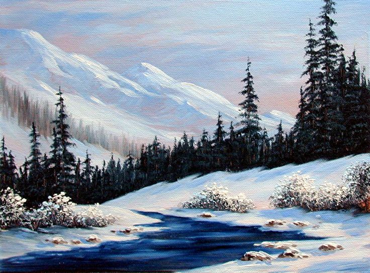 50 best winter painting images on Pinterest | Winter painting ...