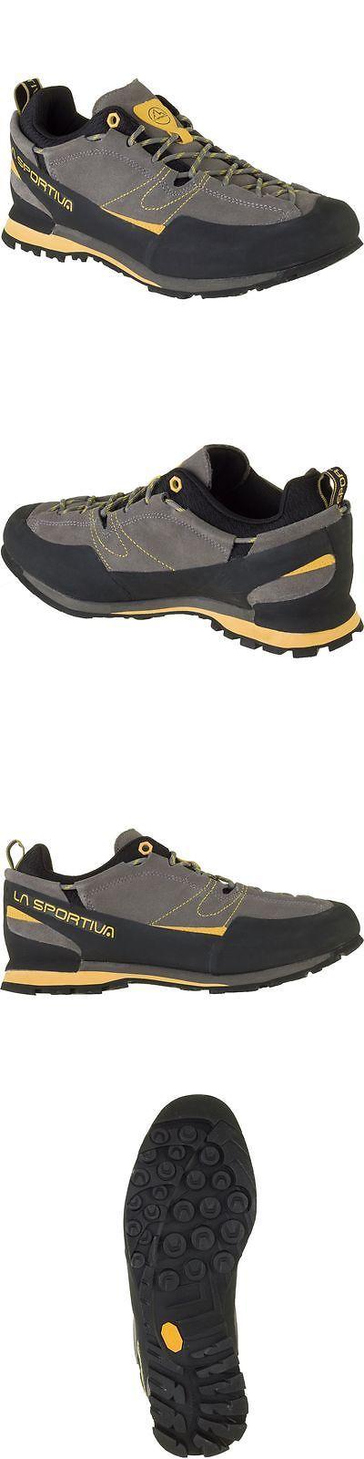 Men 158978: La Sportiva Boulder X Approach Shoe - Mens Grey/Yellow 43.0 BUY IT NOW ONLY: $110.0