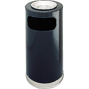 Papelera con cenicero revestida en acero inoxidable. Diseño simple y elegante. Capacidad 45 litros. El Compas Online