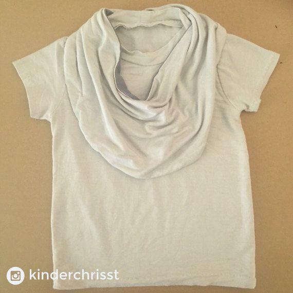 Baby Bamboo T-shirt Toddler T Shirt T-shirt Cream Drape Grey
