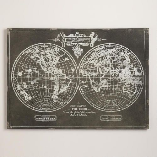 One of my favorite discoveries at WorldMarket.com: Black World Map