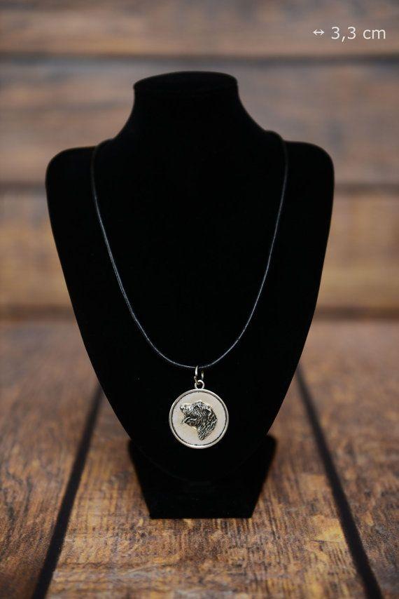 Irish Wolfhound, dog necklace, medallion, limited edition, extraordinary gift…