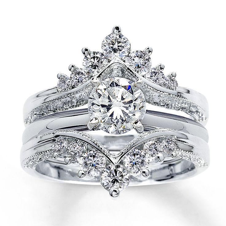 Jared - Diamond Enhancer Ring 3/4 ct tw Round-cut 14K White Gold