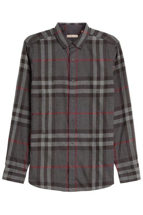 BURBERRY Printed Cotton Shirt. #burberry #cloth #