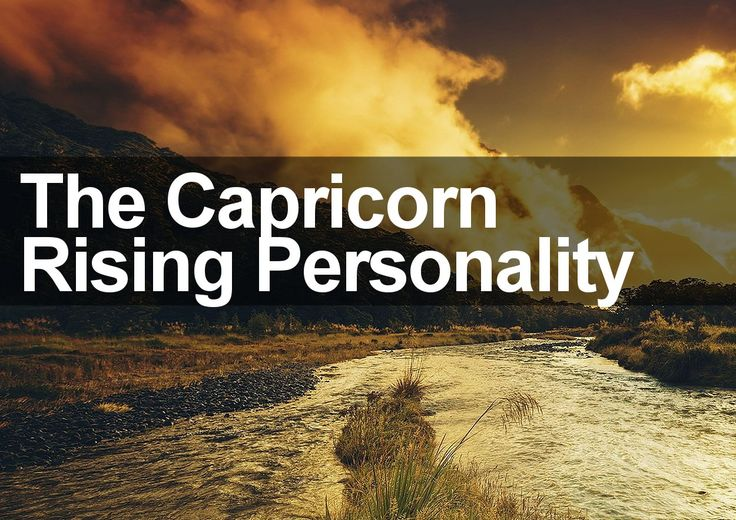 The true nature of The Capricorn Rising Personality is revealed in this special personality profile report. Discover the truth about Capricorn ascendant.
