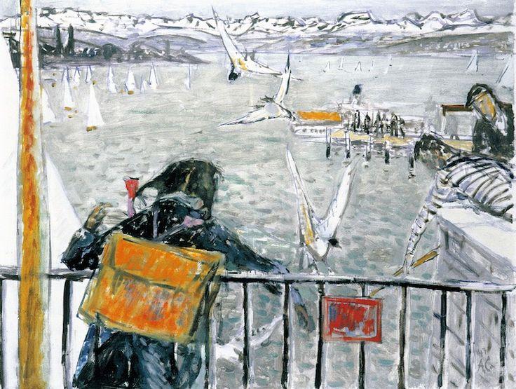 Alois Carigiet, «Zürichsee» Postkarte